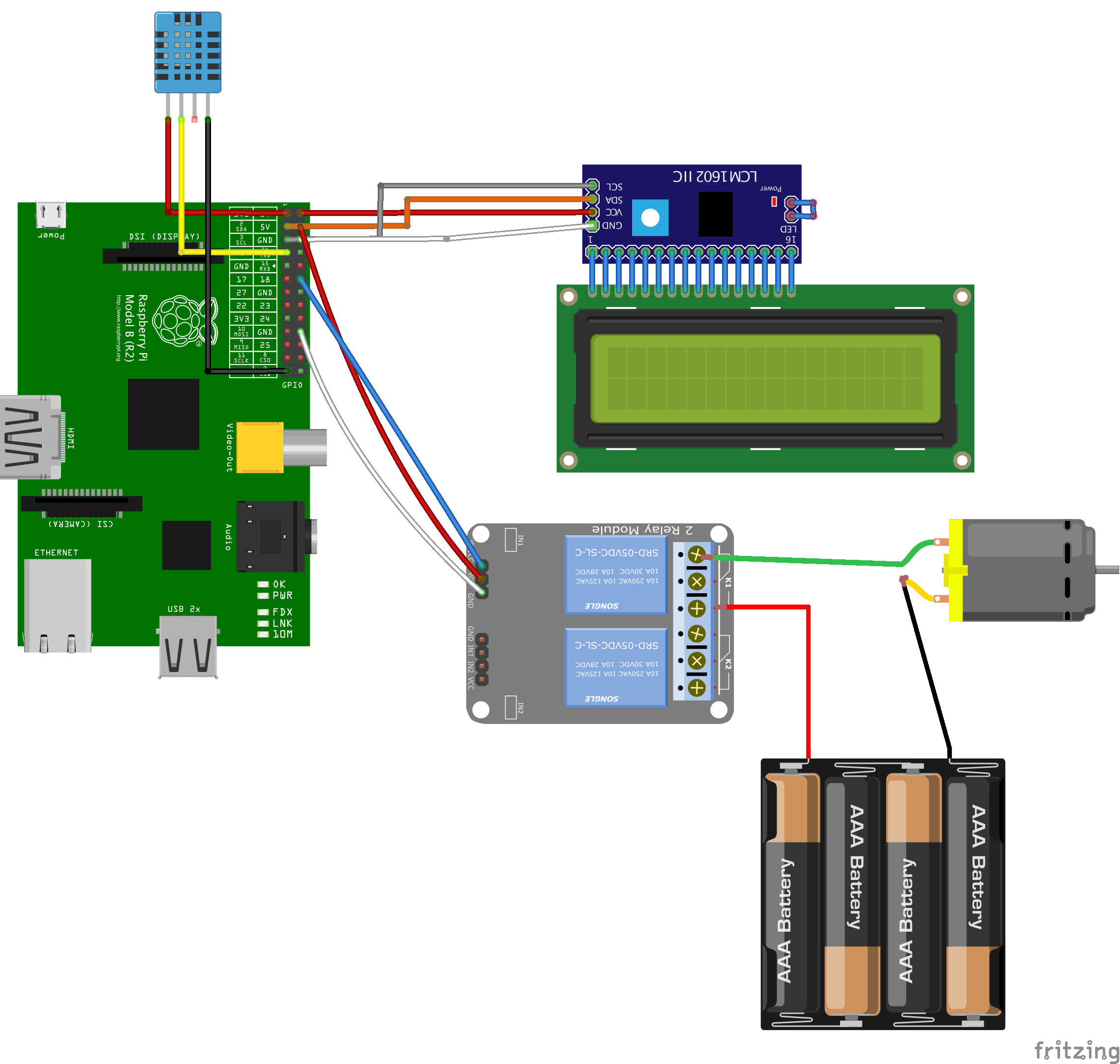 Wiring System Parts with Raspberry Pi