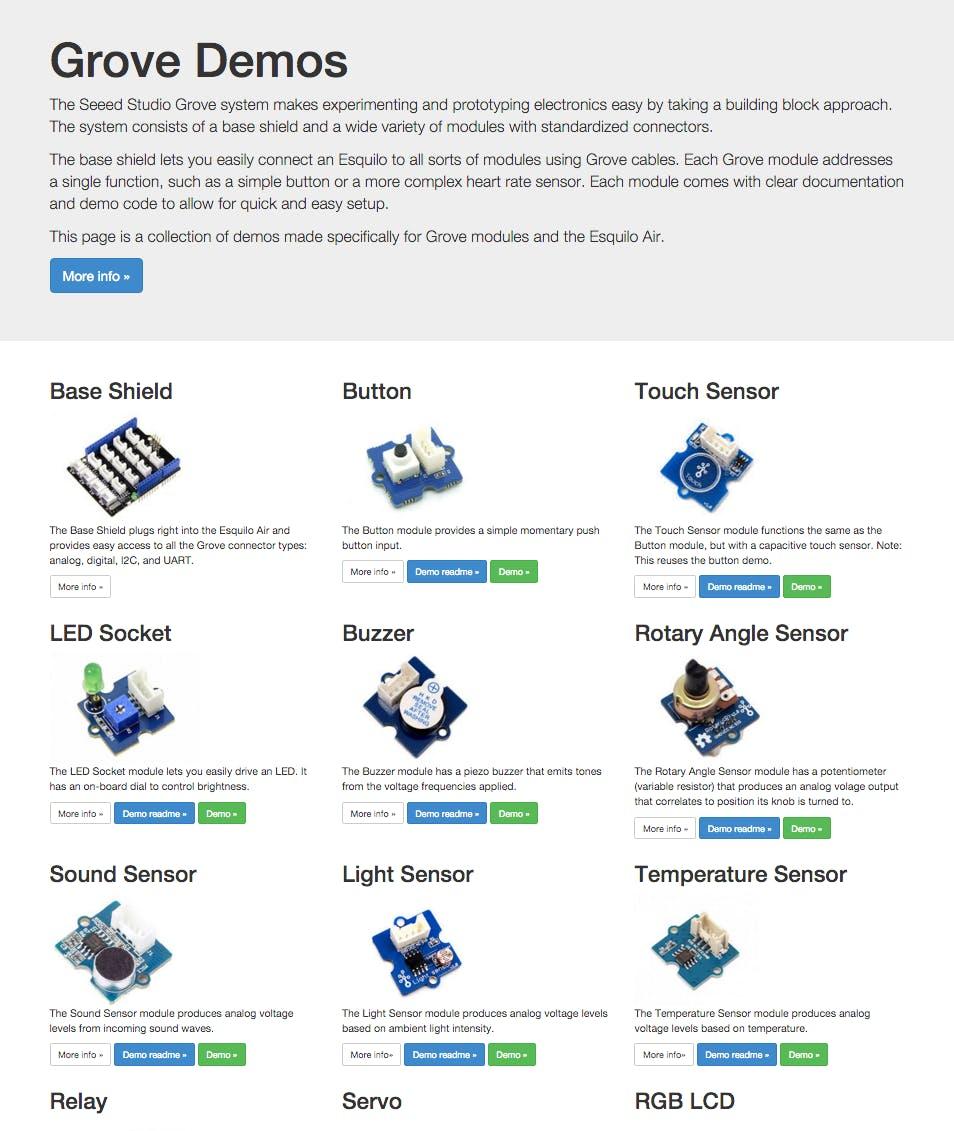 Grove Demos Landing Page