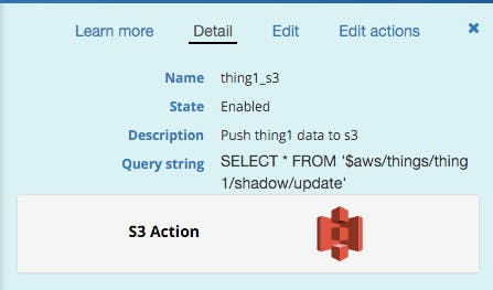 Create a rule to push to S3