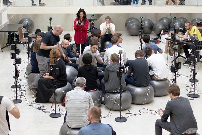 Automatic Orchestra performance at Resonate 2015 conference