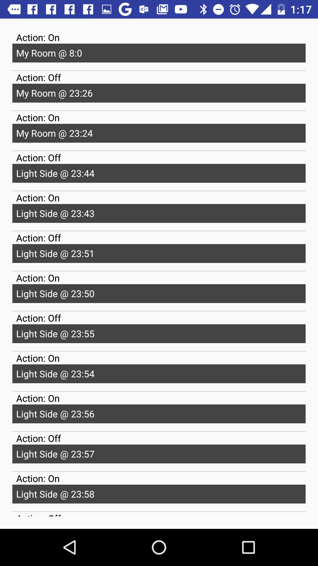 Schedules Activity