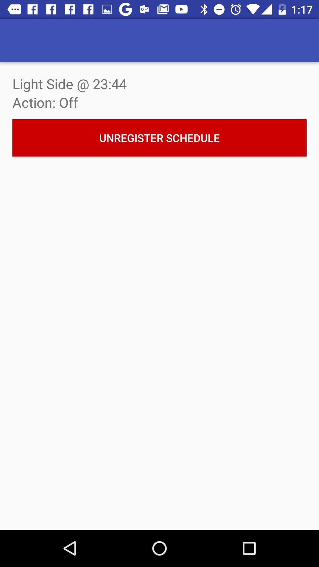 Remove Schedule