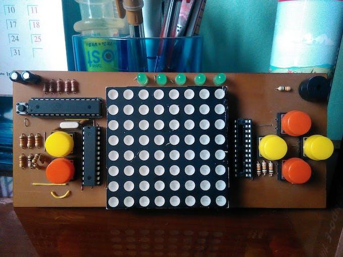 Arduino dot matrix game console hackster