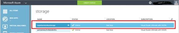 Fig.12: Create Azure Storage Account