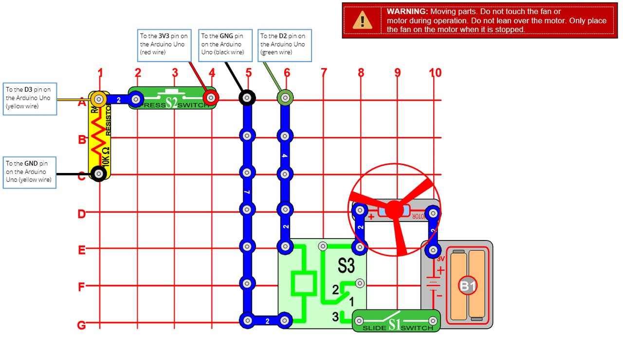 Snap Circuits Button Controlled Launcher Introduction To The Electric Switch Using All
