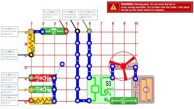 Snap Circuit Diagram (see PDF for full details)