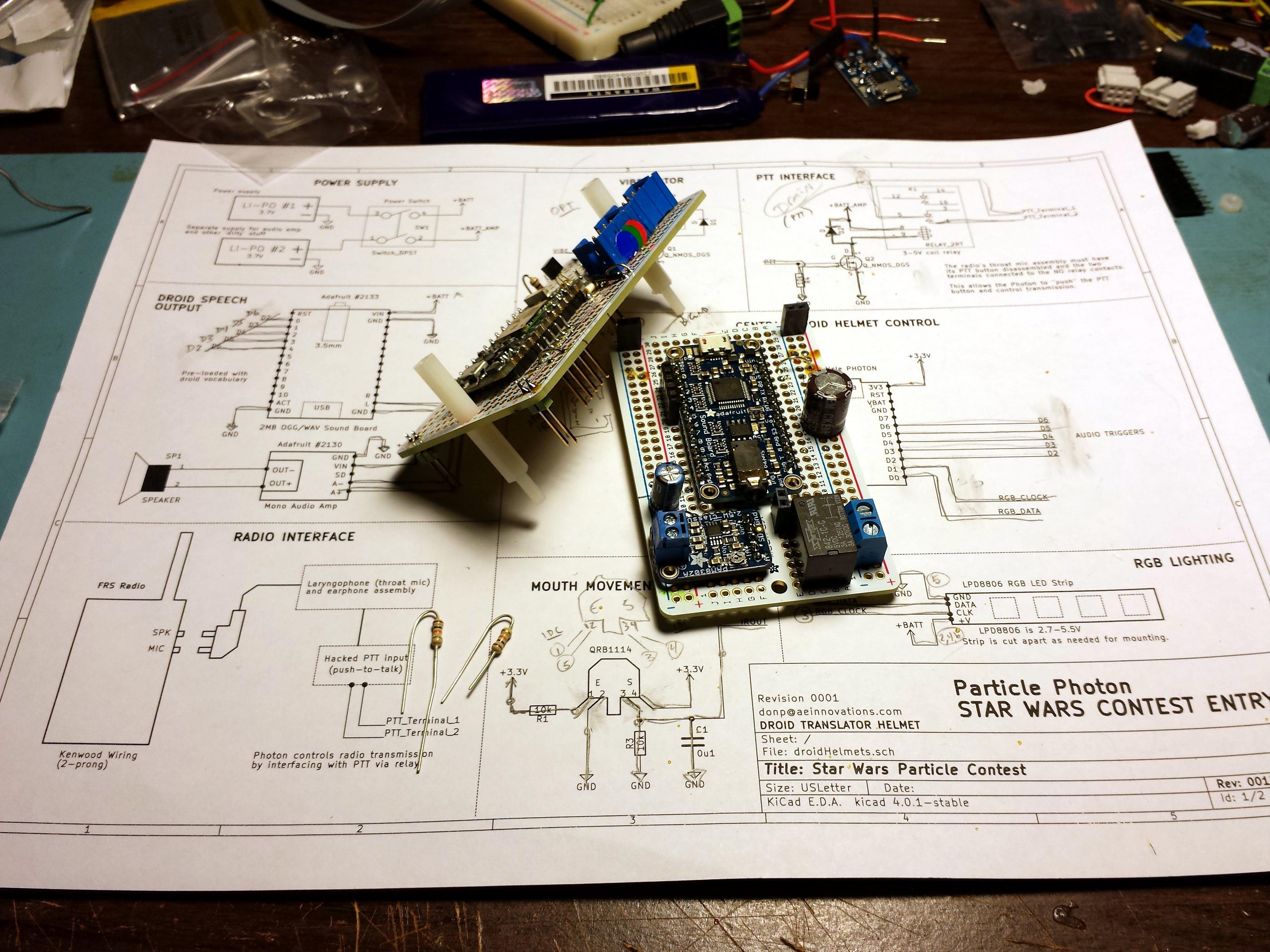 Electronics in progress.