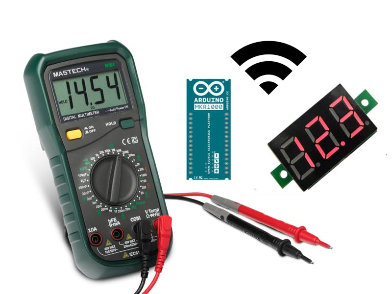 Wireless voltmeter