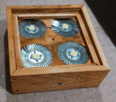 LEDs in a Cedar frame