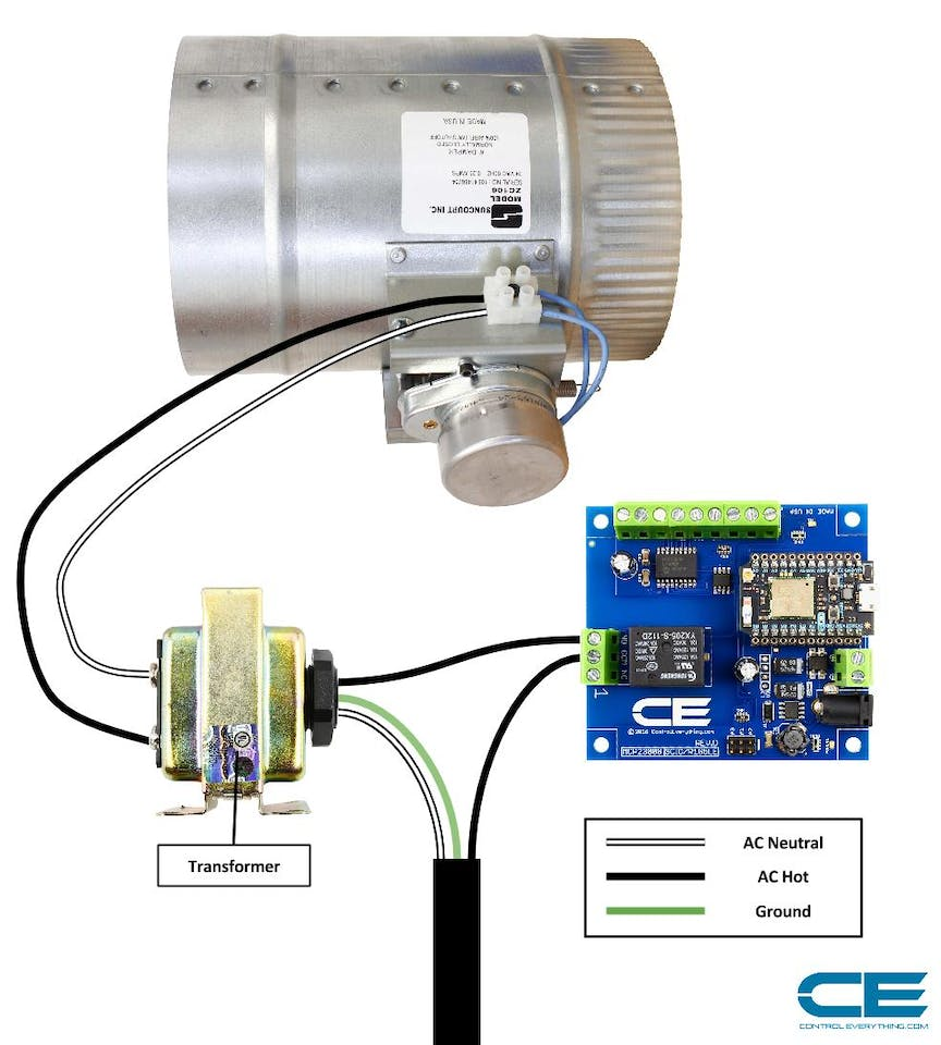 Smart Thermostat controlled HVAC Duct Damper - Hackster io