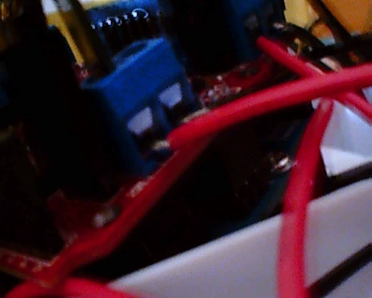 wiring in the motor