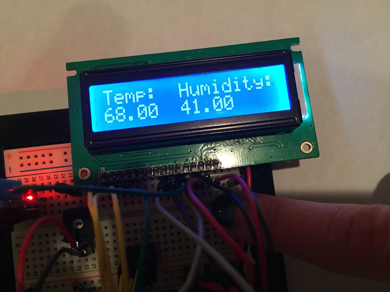 Portable Arduino Temp Humidity Sensor With Lcd Project Hub Temperature Detector Controller Circuit Electronic Projects