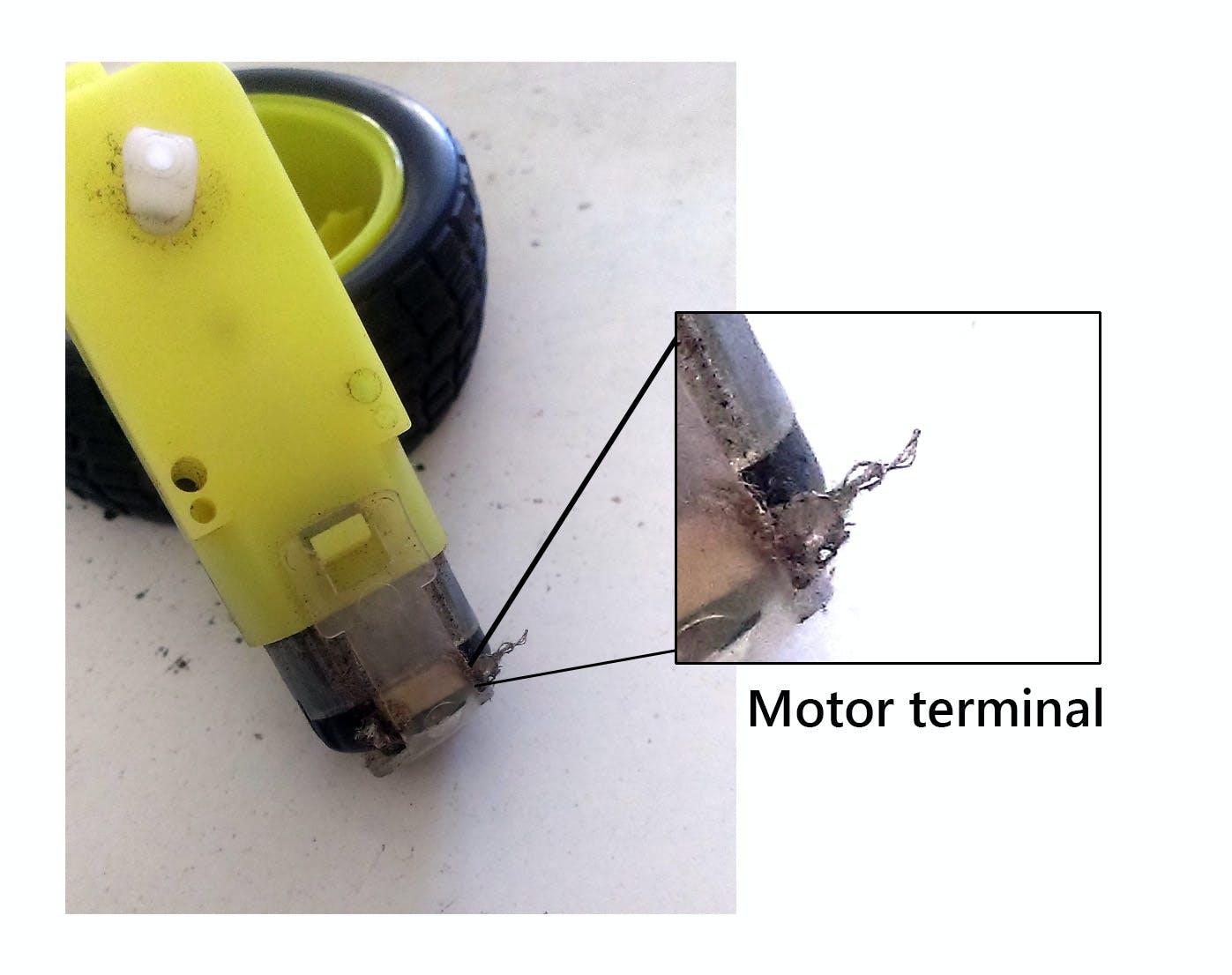 Motor terminal