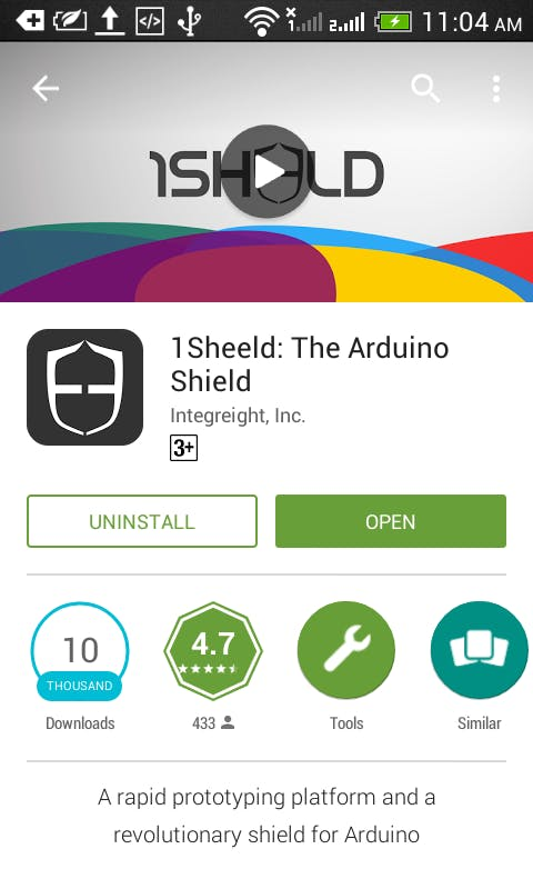 1Sheeld app on Play