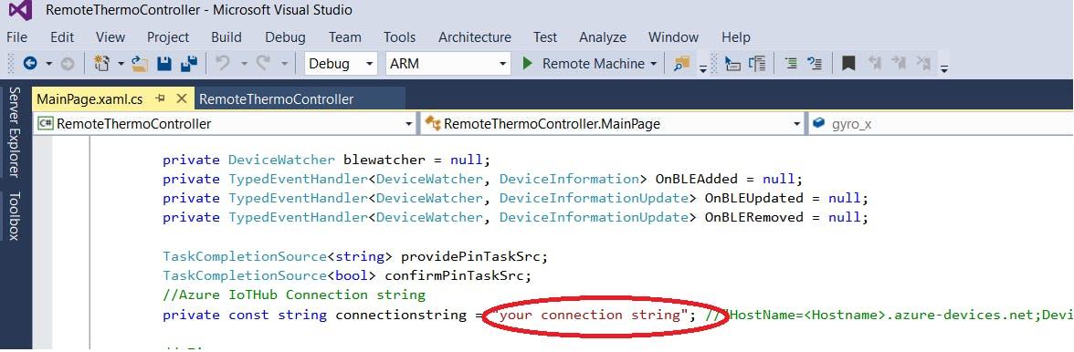 Visual Studio Iot