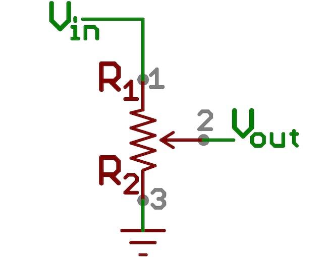 Pot voltage divider
