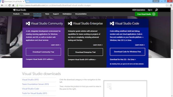 visual studio 2015 for windows 7 free download