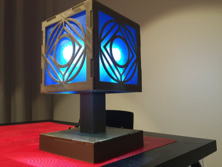 completed Holocron lamp