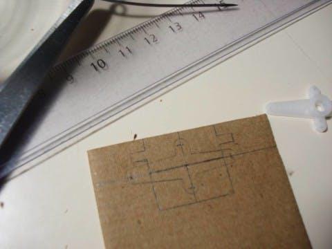 Cardboard to fit Servo arm