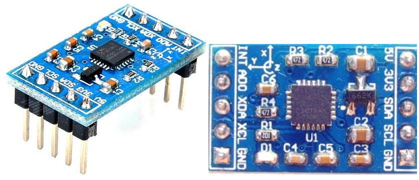 Fig (3) : Snapshots of MPU6050 [6 DOF] sensor module that I haveimplemented