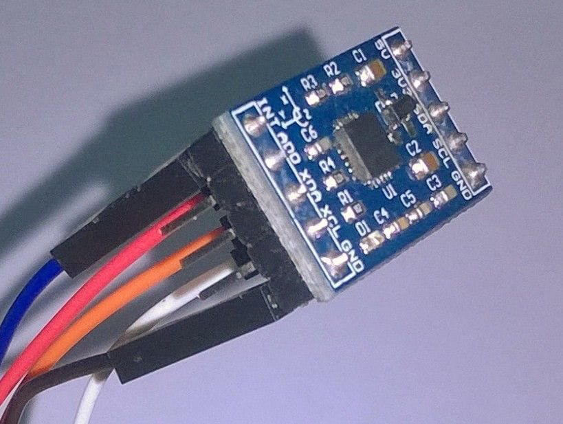 Fig (6) : Zoomed view of the MPU sensor