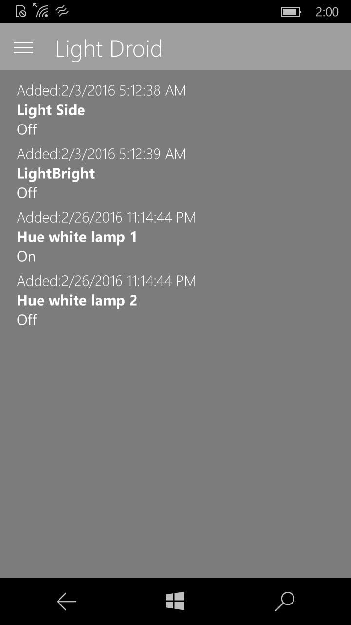 Lights Screen