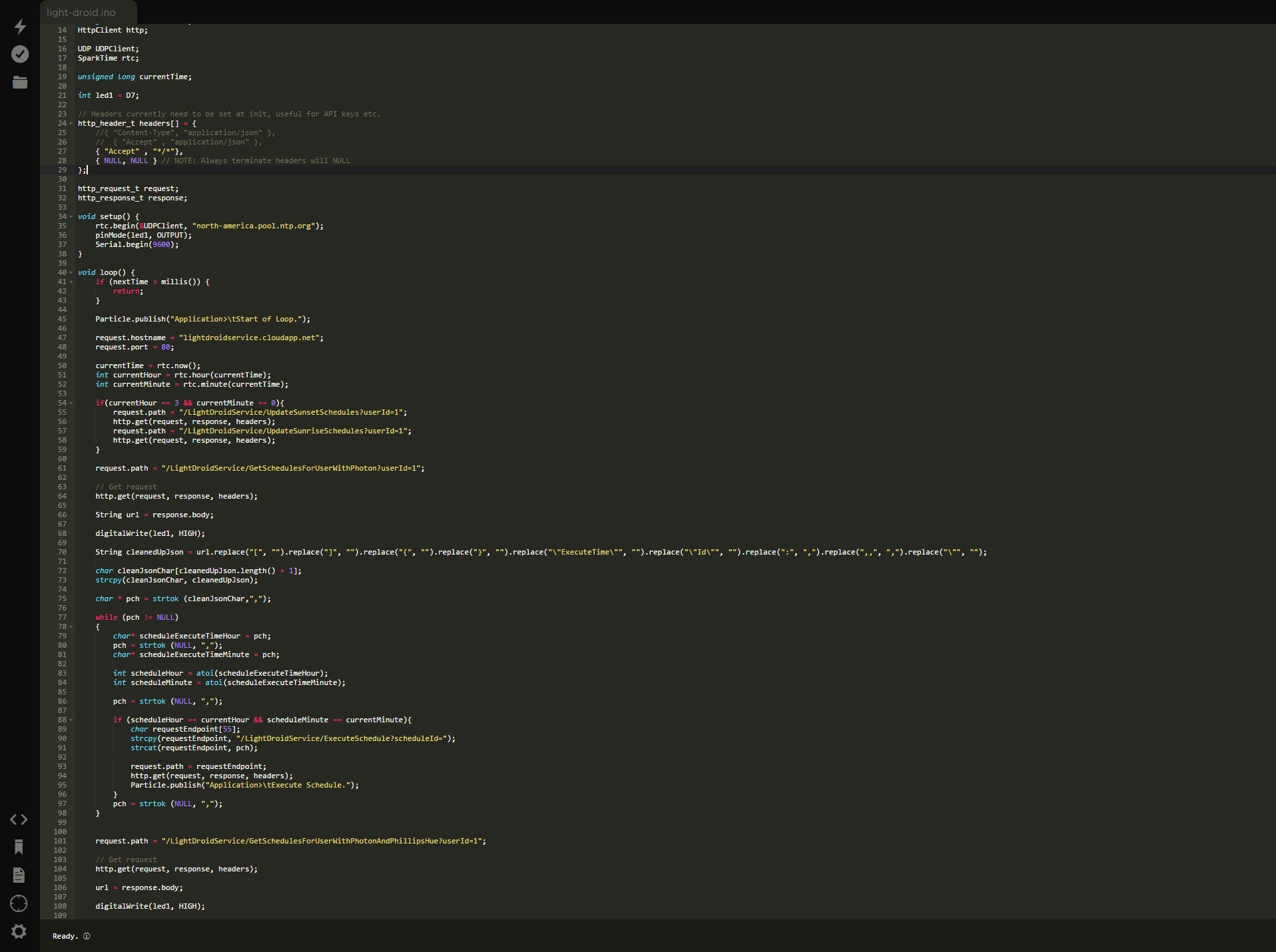 Particle Build IDE