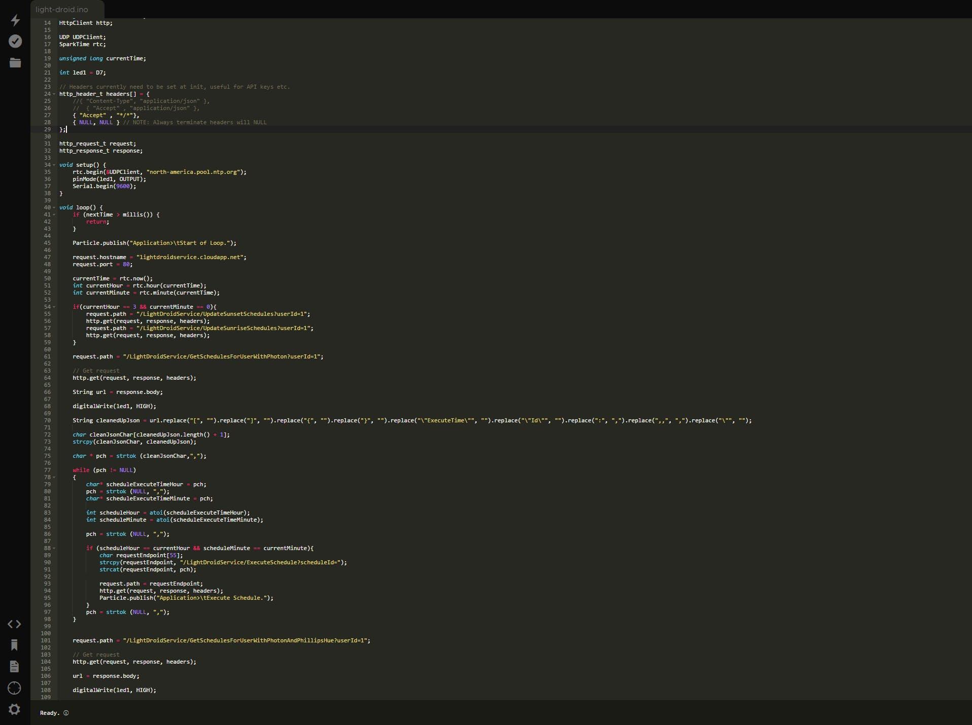 Particle Build IDE