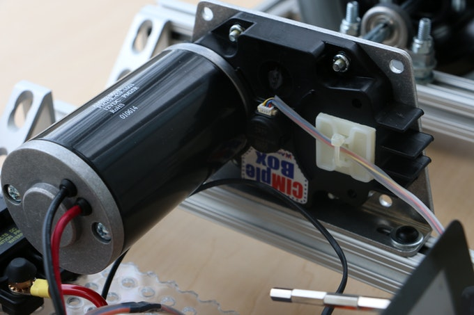 The CIMple Gearbox and mounting hardware