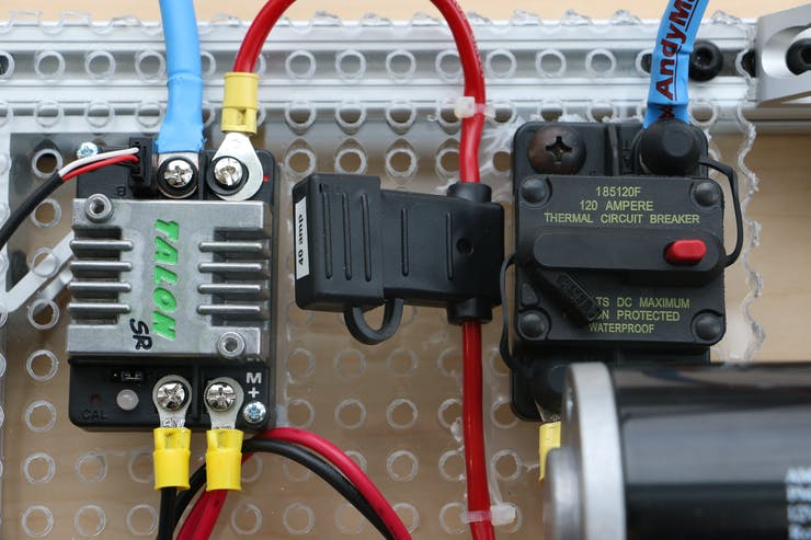 Motor Controller, Fuse, and Circuit Breaker