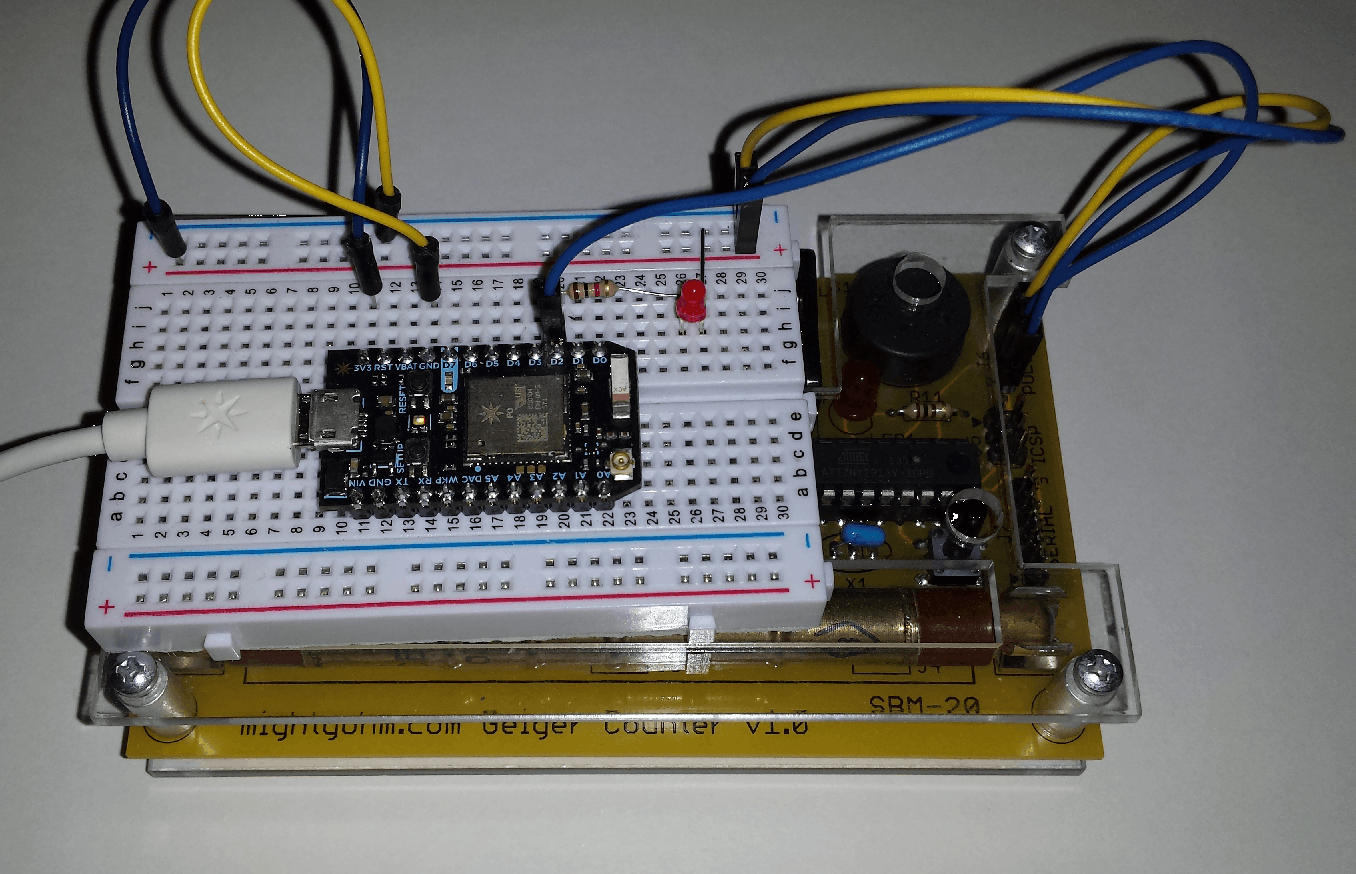 Photon connected to the Geiger counter