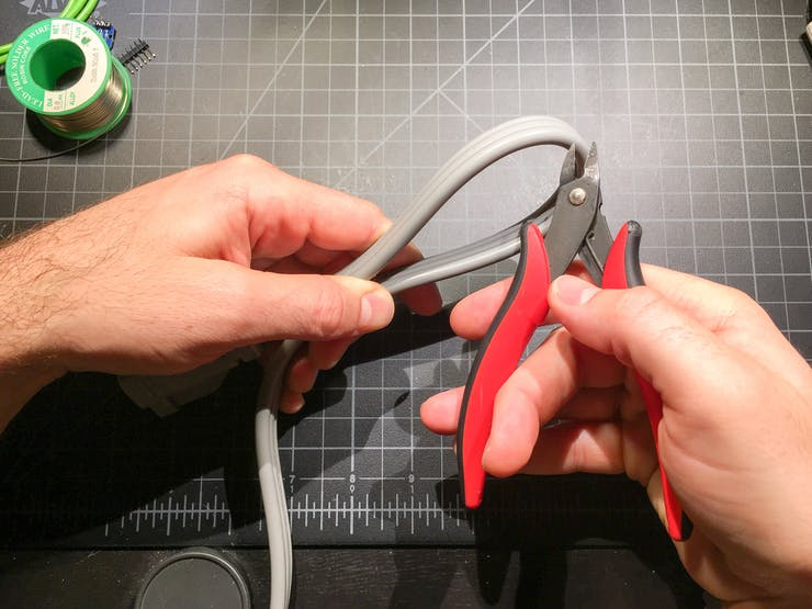 Cut the power cord
