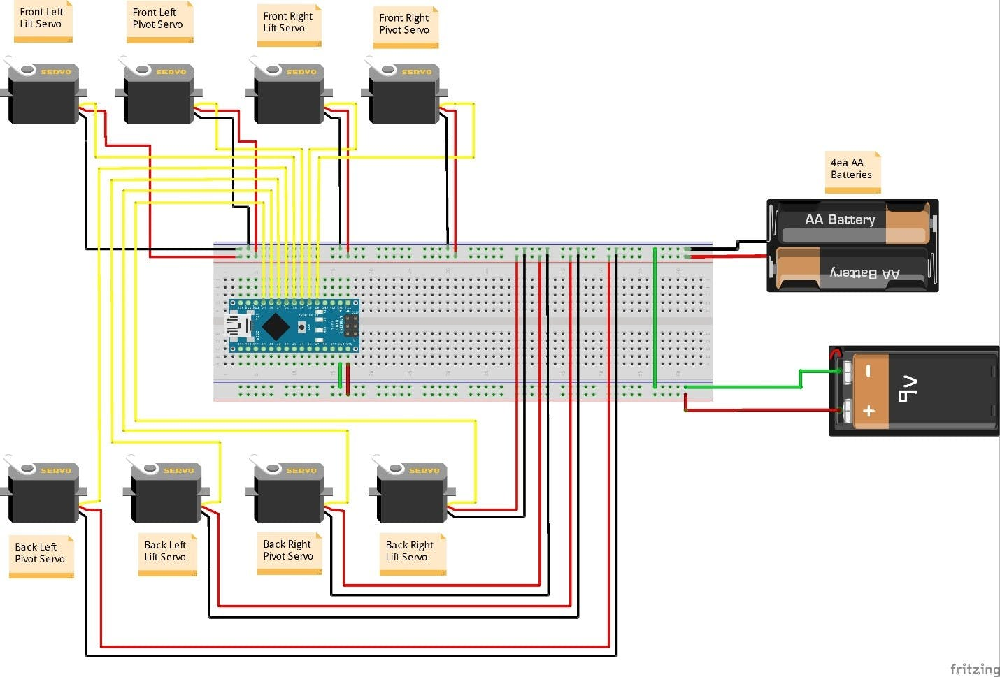 Servos use Arduino Uno instead