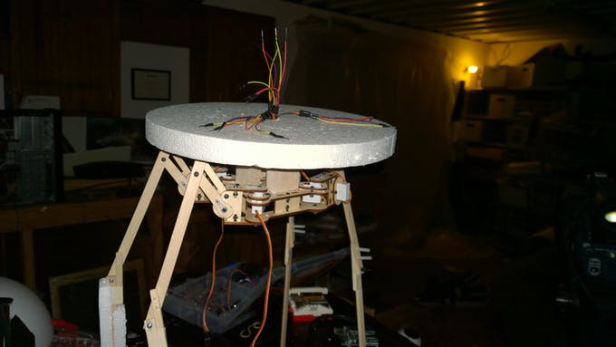 After creating the neck out of balsa affix disc and string servo wires