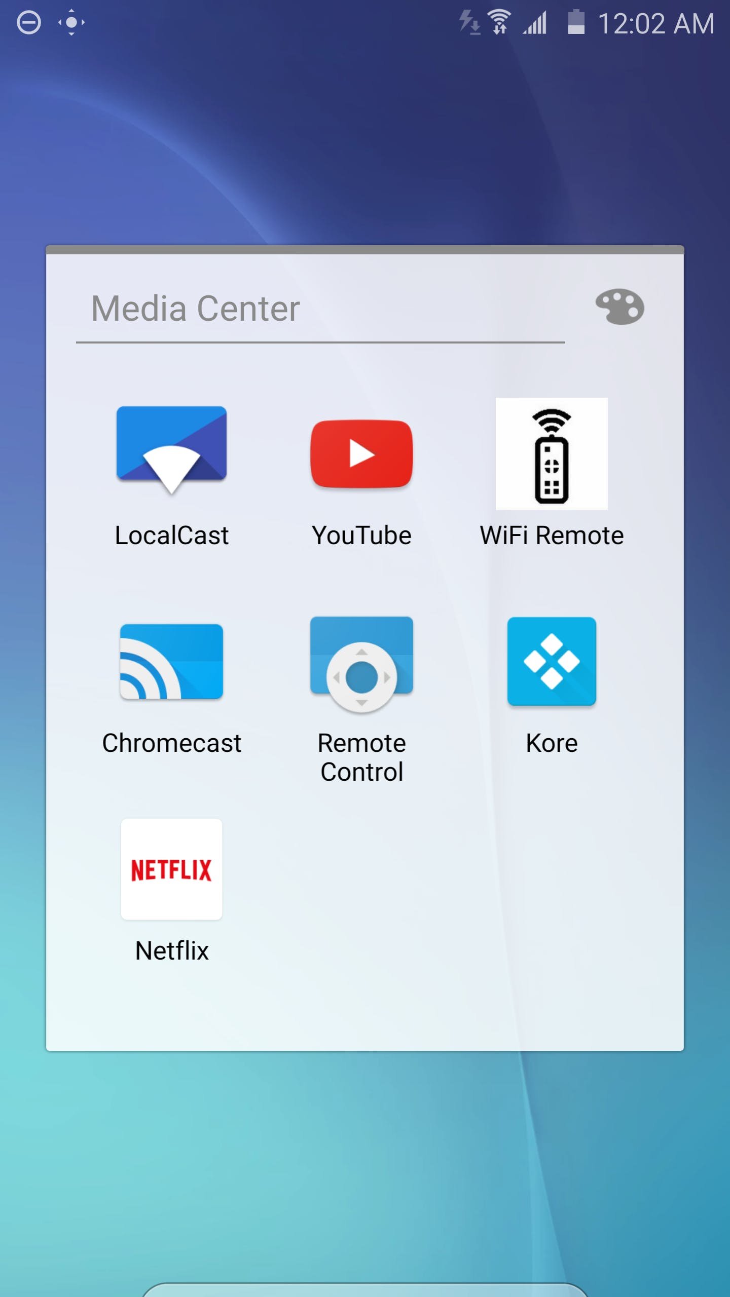 Just tap WiFi Remote to launch the webapp
