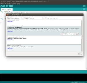 Searching in Arduino Library Manager