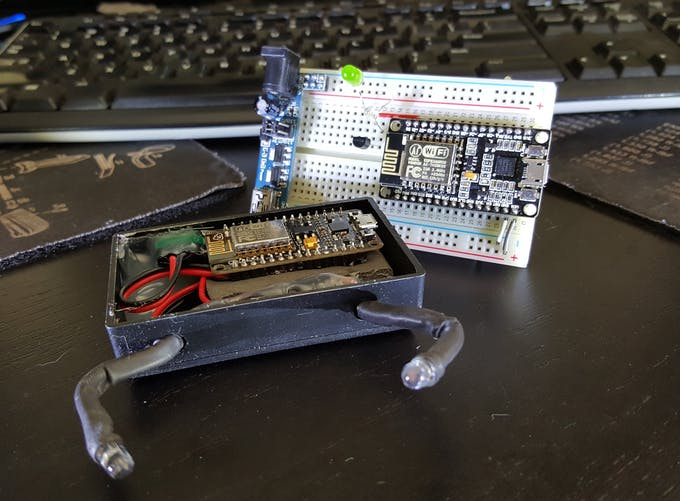The guts alongside the prototype