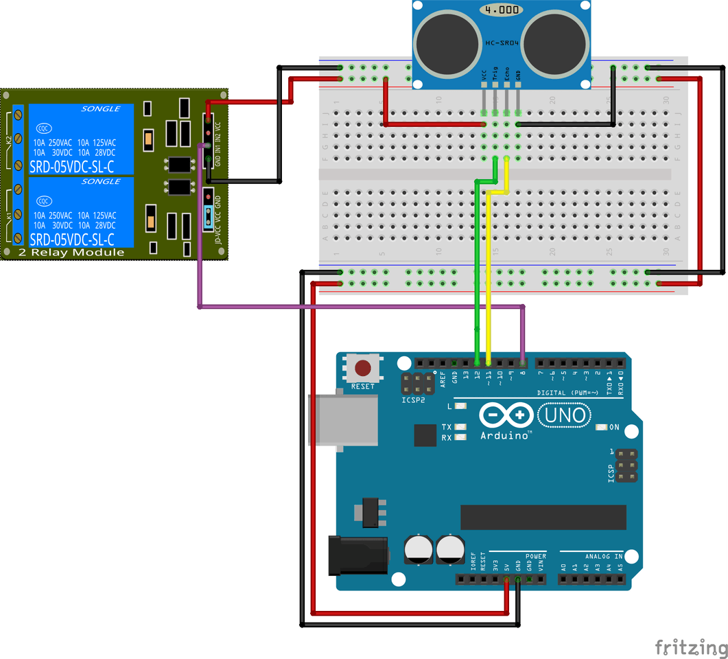 Arduino And Ac Devices Automatic Lights Relay Switch