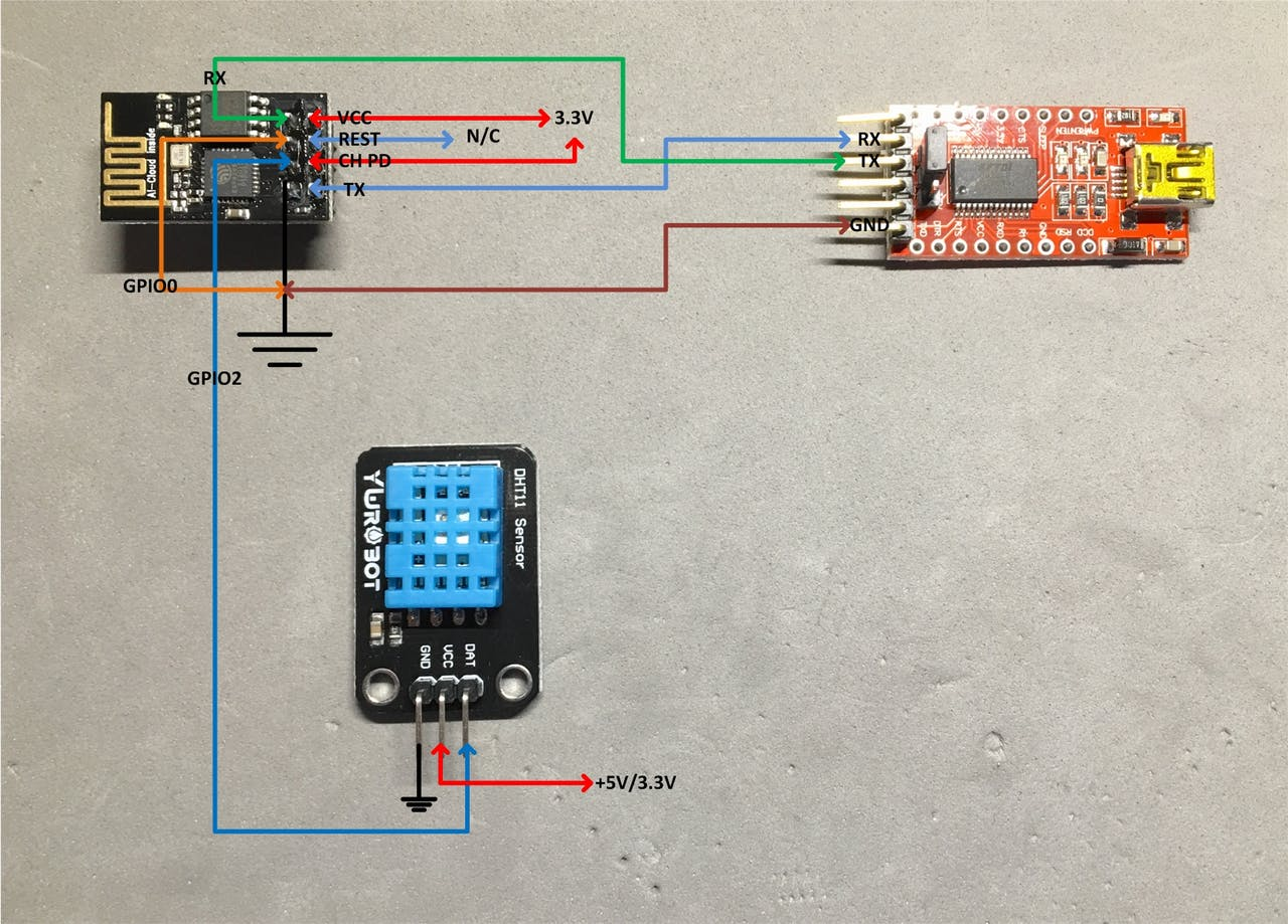 Temp Sensor Connected To Esp8266 And Upload Data Using Mqtt Connecting The Pir Inverter Circuit