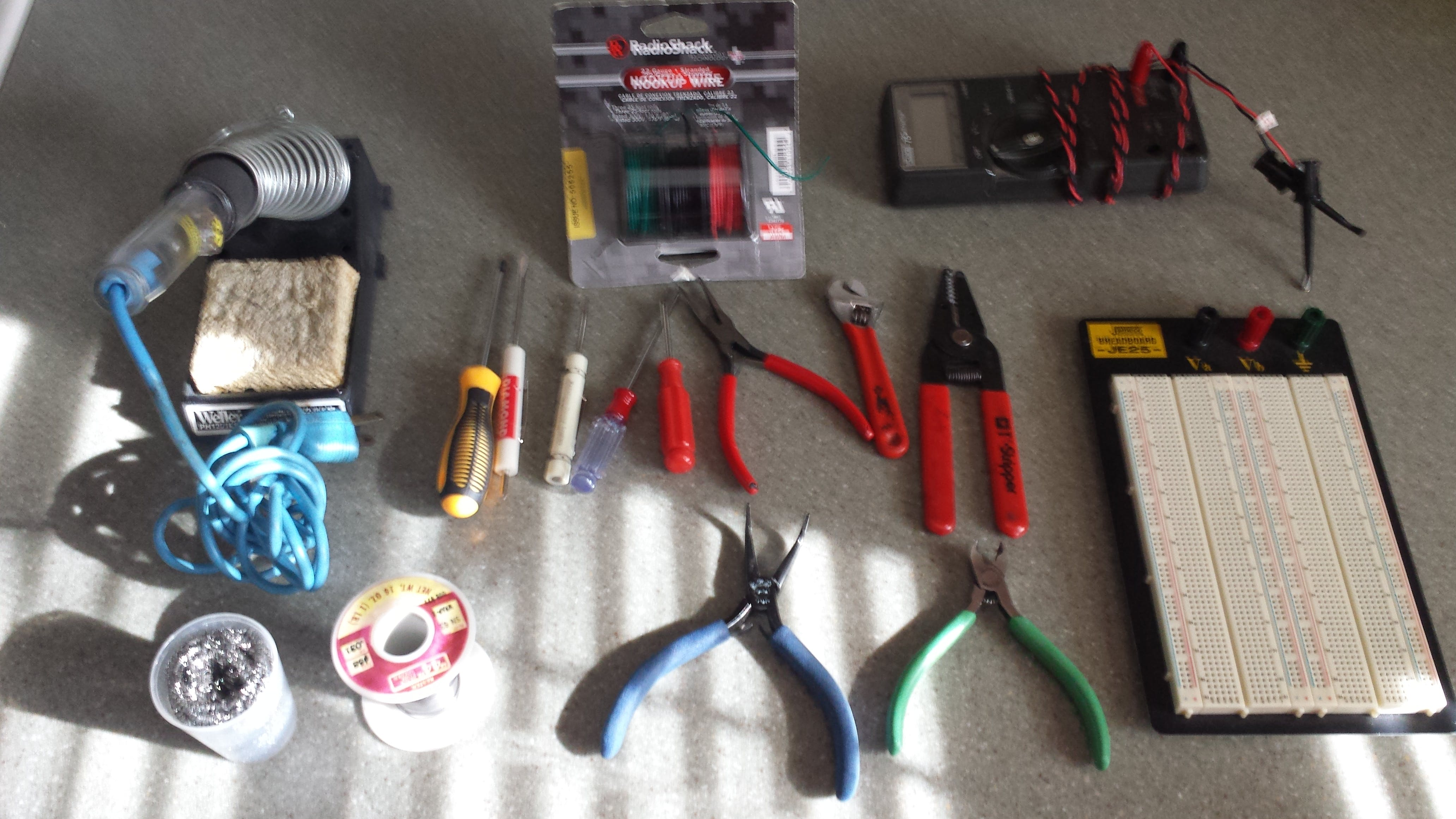Typical assembly tools on hand