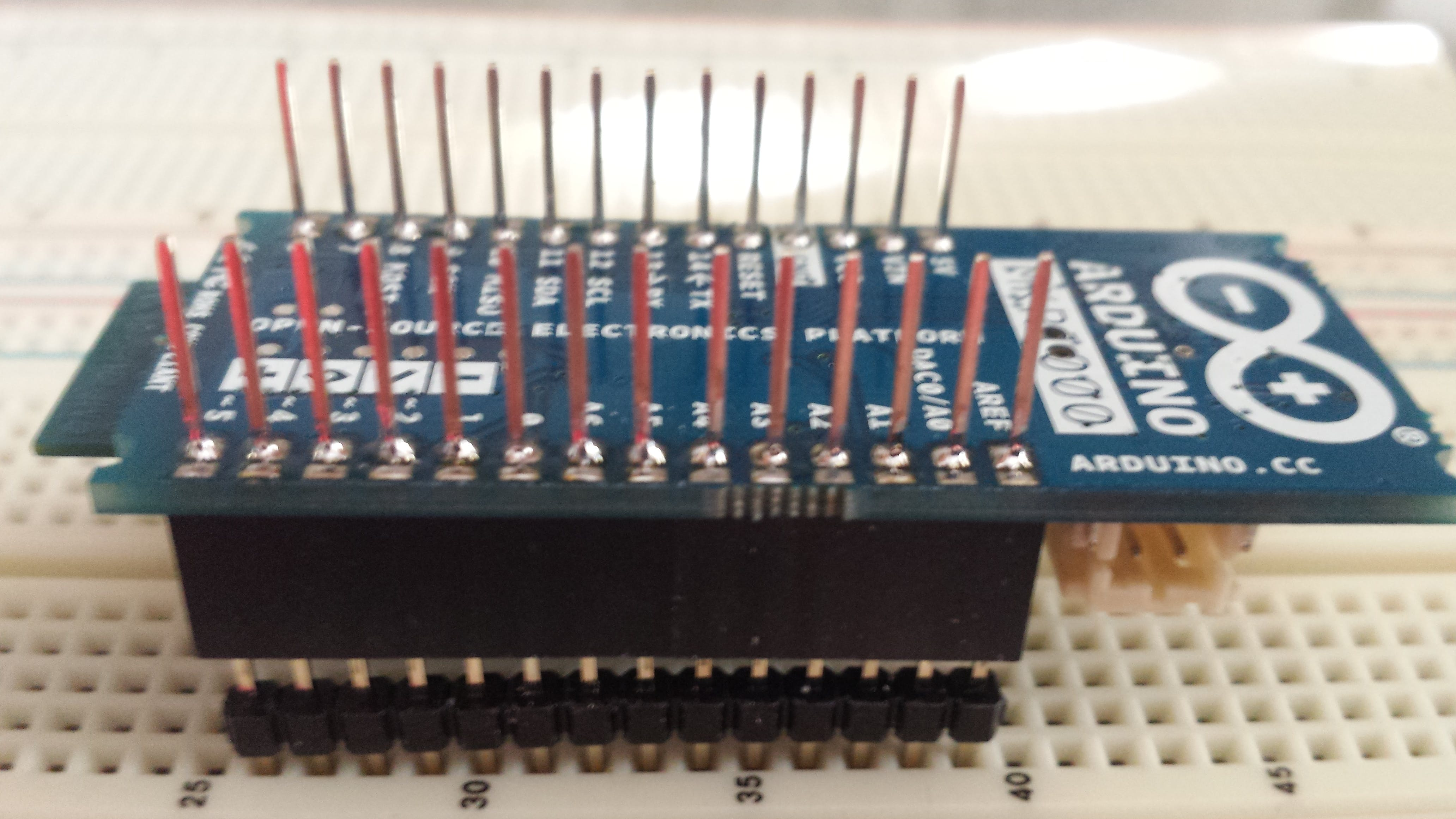MKR1000 with long Arduino Stacking pins already soldered