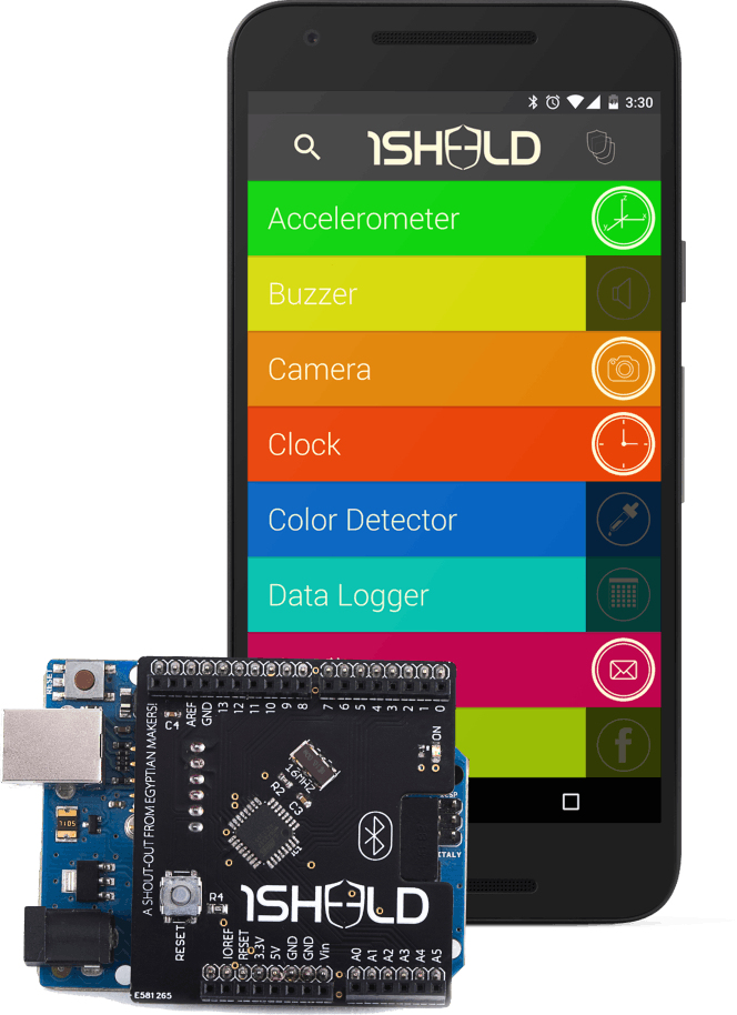 1Sheeld (Android shield for Arduino)