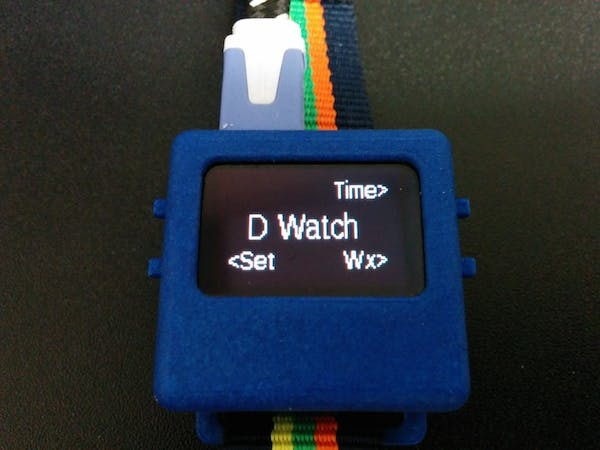 D Watch Initial Menu