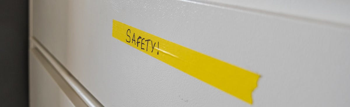 "And that's why we have the ""Safety!"" drawer in the NTC shop"