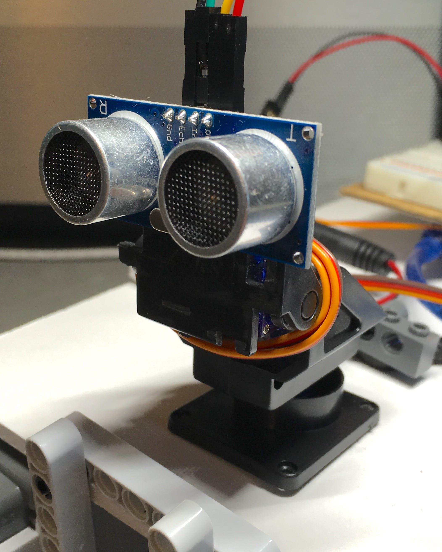 HC-SR04 mounted