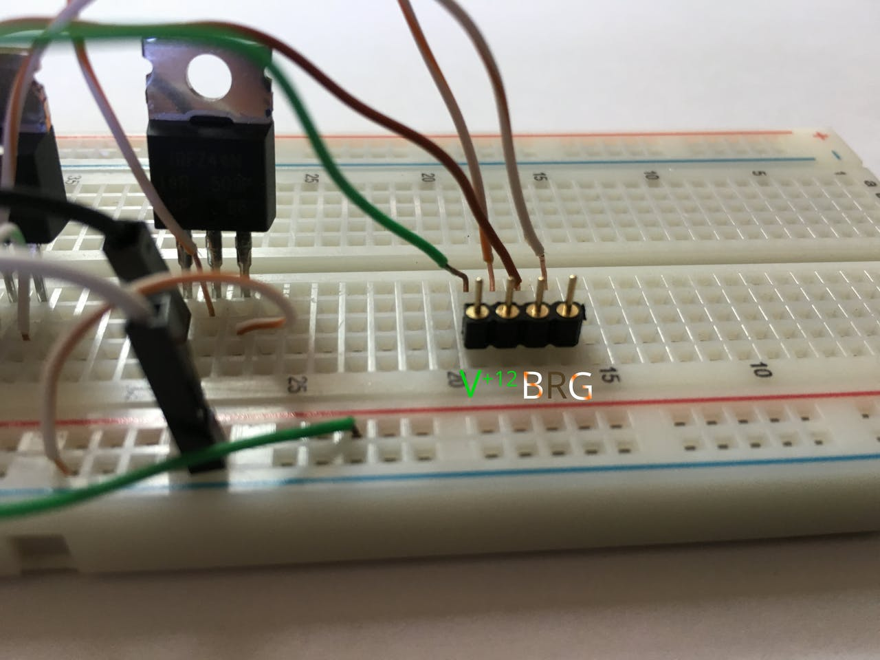 Codename Rgb Mosfet Led Pwm Driver Pcb With Components Soldered In Circuit