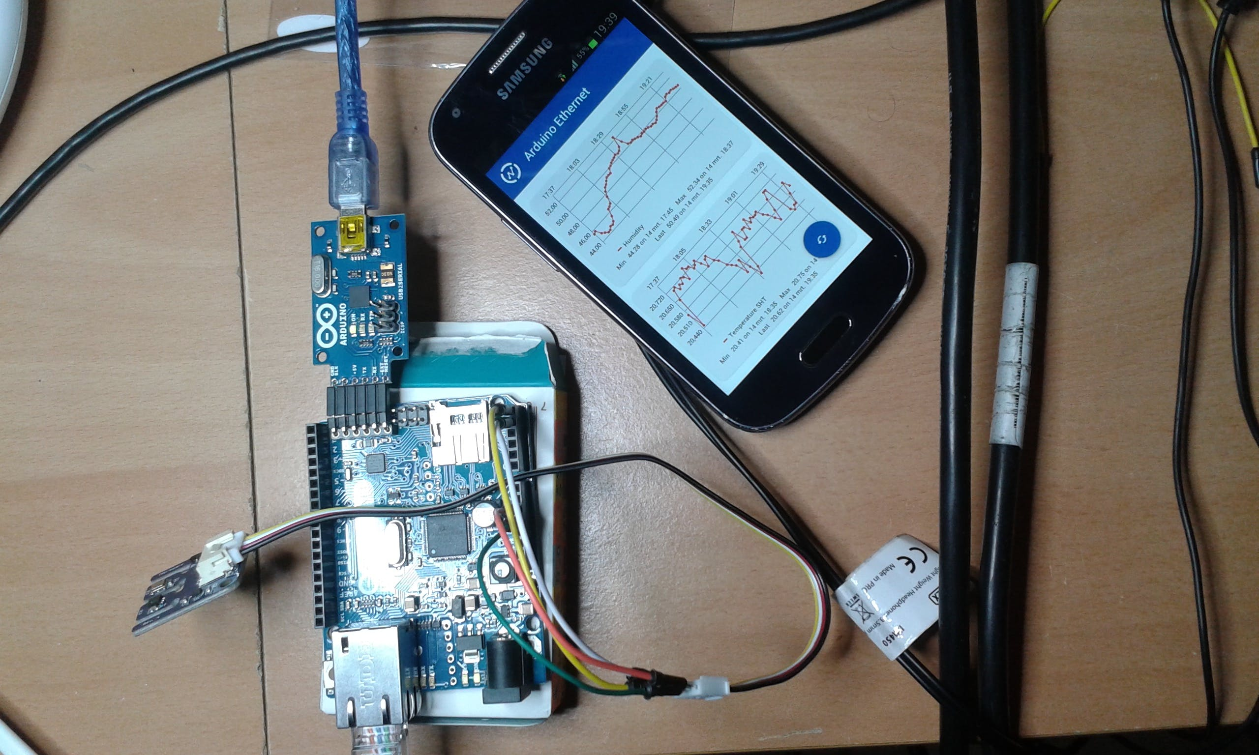 Data can be monitored from the ThingSpeak Android app