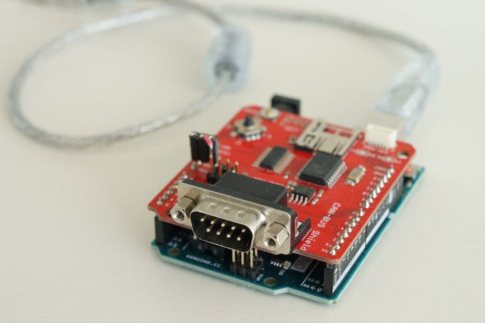 Arduino Uno with Sparkfun CAN bus shield