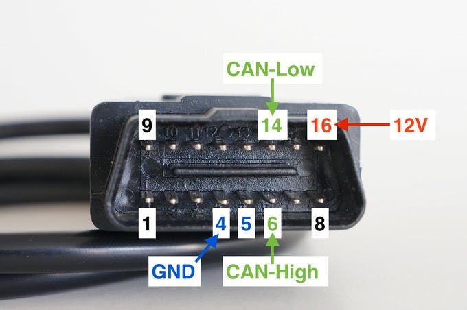 OBD II connector (male)