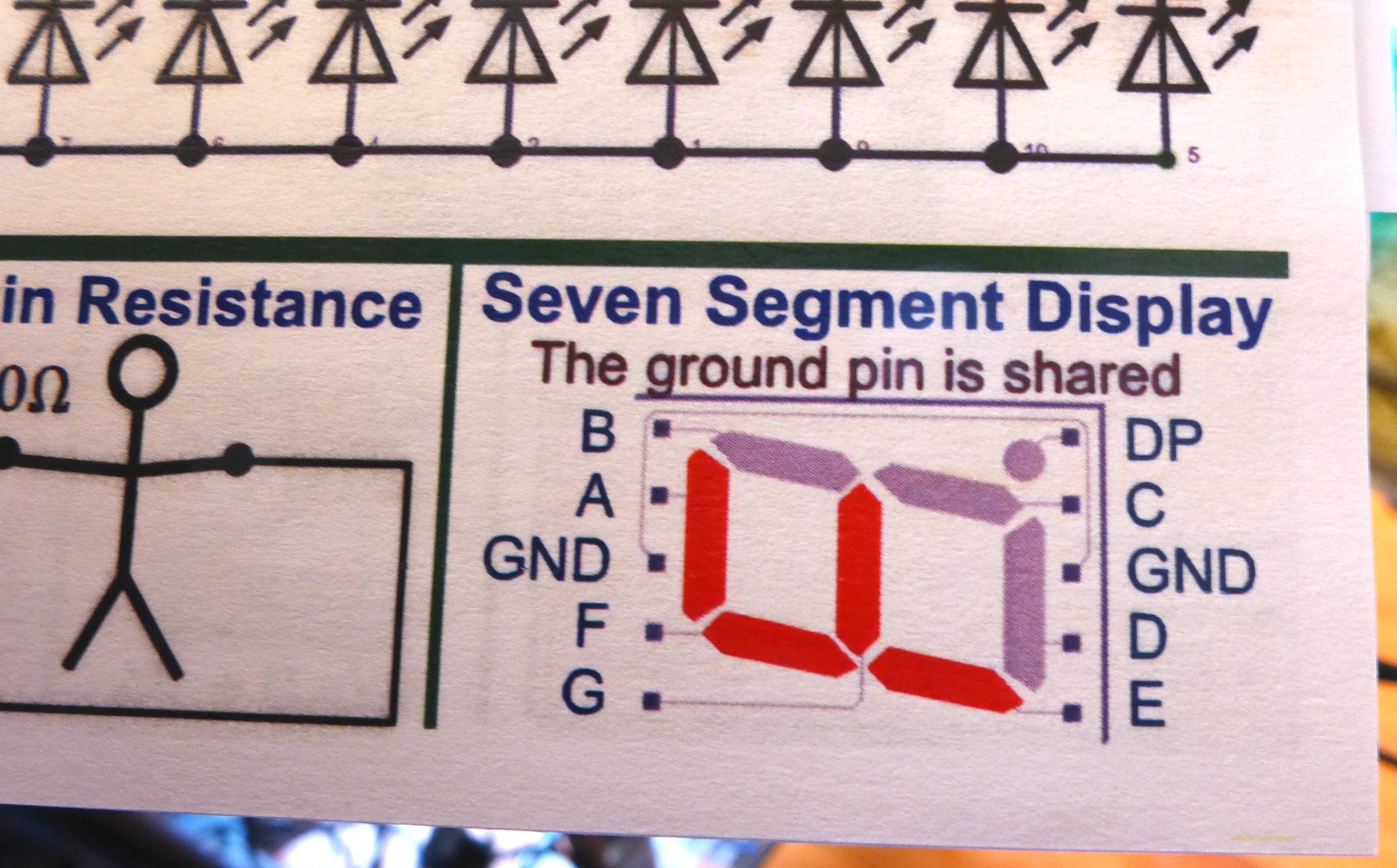 These seven-segment displays came from my Tron Club kits.